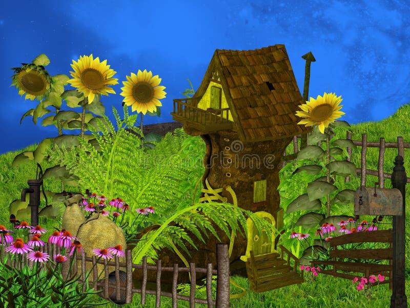 Casa de la fantasía stock de ilustración