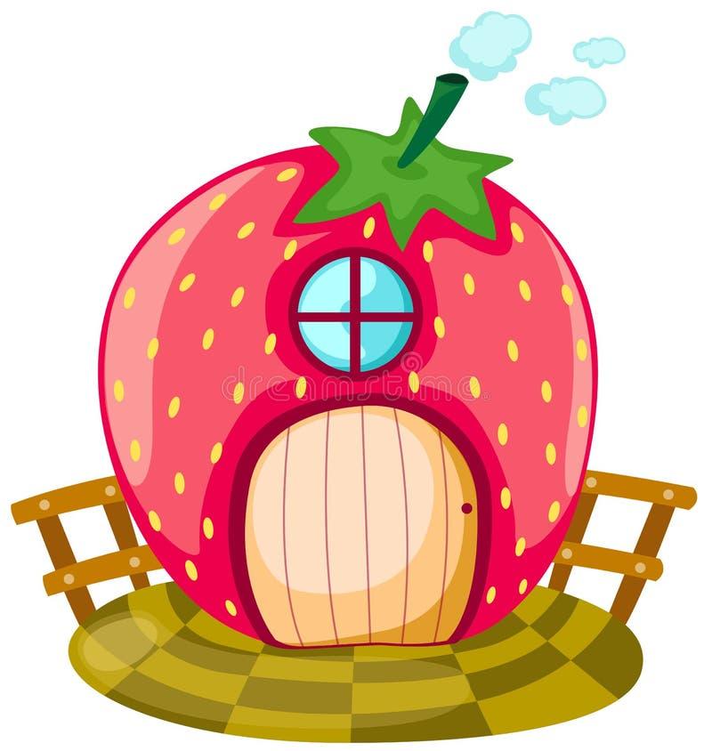 Casa de la fresa stock de ilustración