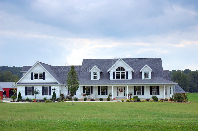 Casa de la granja imagen de archivo
