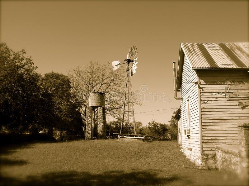 Casa de la granja de Tejas foto de archivo