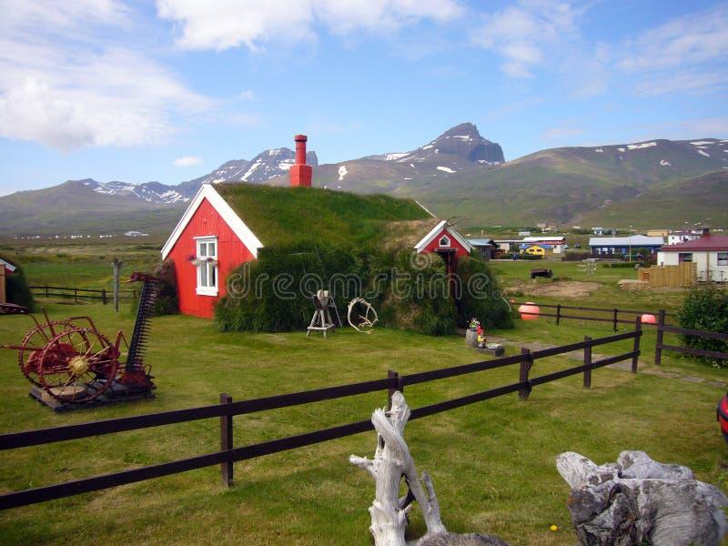 Casa de la hierba de Islandia fotografía de archivo