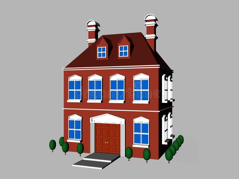 Casa de la historieta ilustración del vector