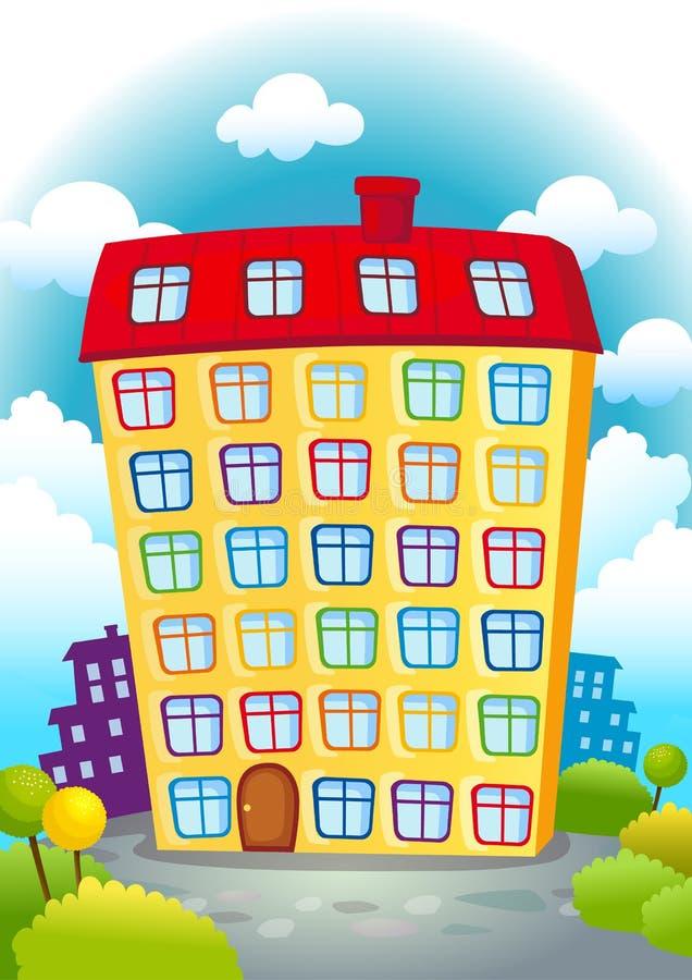 Download Casa de la historieta stock de ilustración. Ilustración de blanco - 44853967