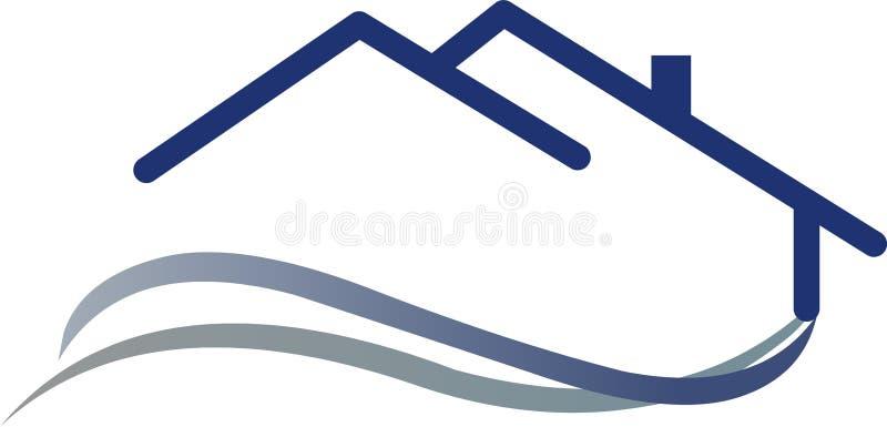 Casa de la insignia ilustración del vector