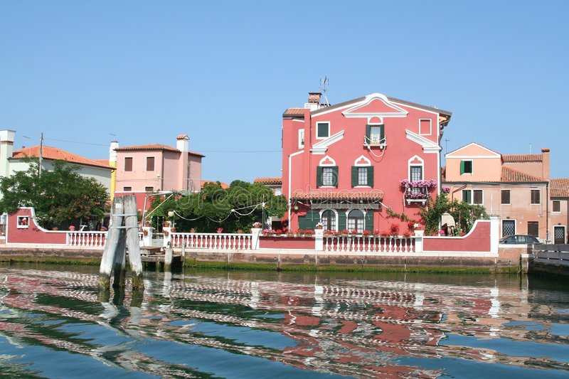 Casa de la laguna de Venecia foto de archivo