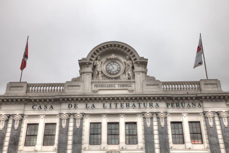 Casa de la Literatura Peruano 库存图片