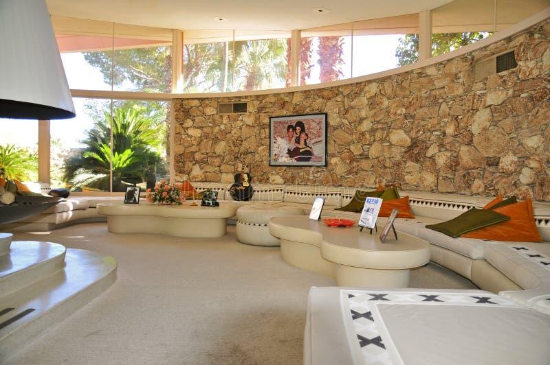 Casa de la luna de miel del ` s de Elvis Presley, Palm Springs imagen de archivo