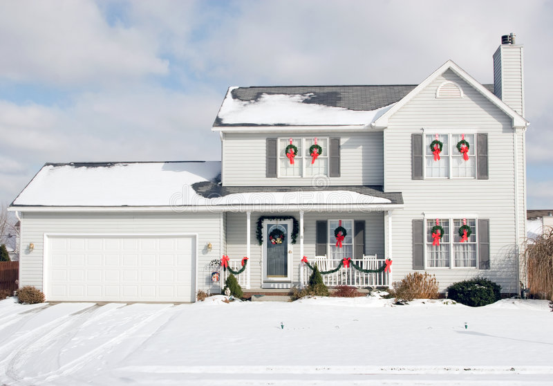 Casa de la Navidad imágenes de archivo libres de regalías