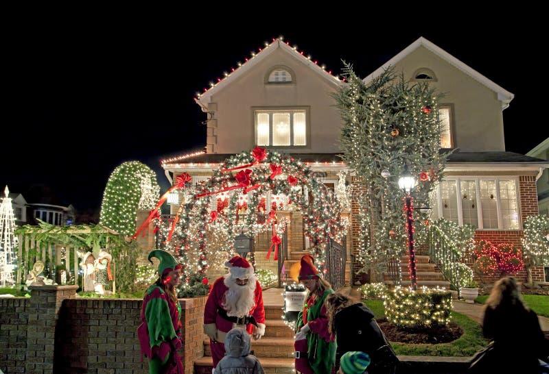 Casa de la Navidad en Brooklyn Nueva York imagen de archivo libre de regalías