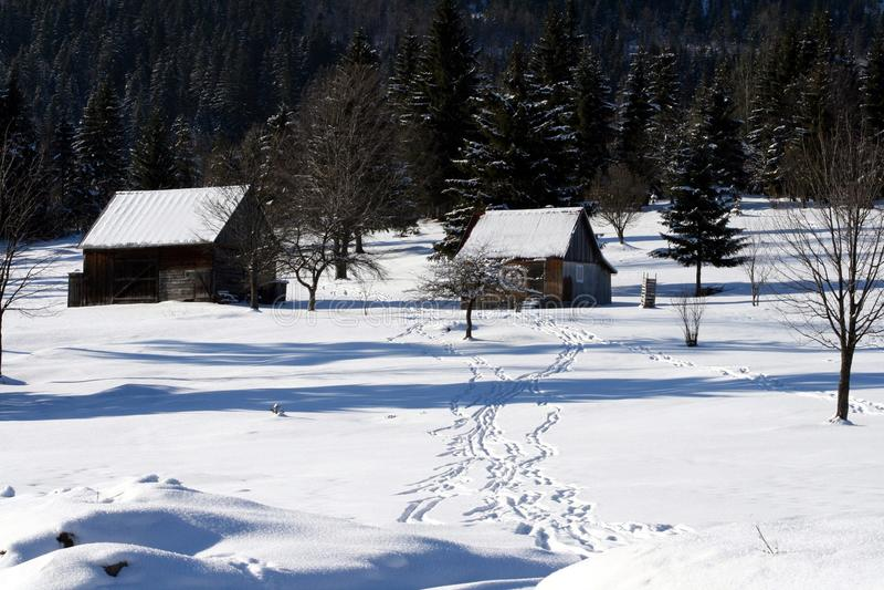 Casa de la nieve imágenes de archivo libres de regalías