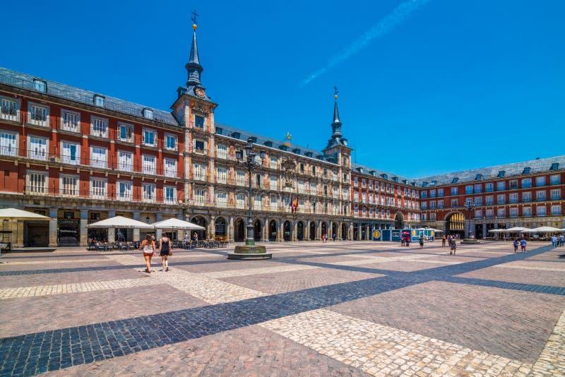 Casa de la PanaderÃa, Piazza-Bürgermeister, Madrid, Spanien, España stockfotografie