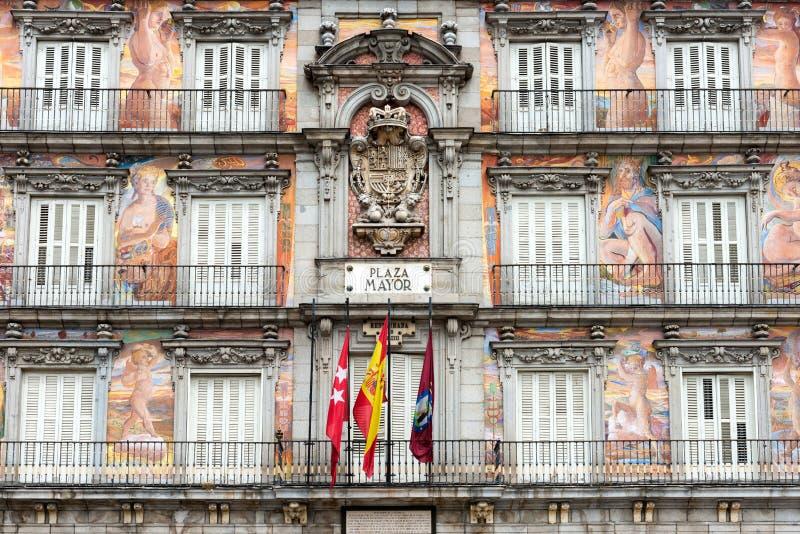 Casa de la Panaderia nel sindaco della plaza a Madrid immagini stock libere da diritti