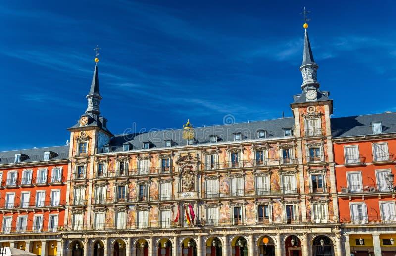 Casa de la Panaderia su sindaco della plaza a Madrid, Spagna immagini stock libere da diritti