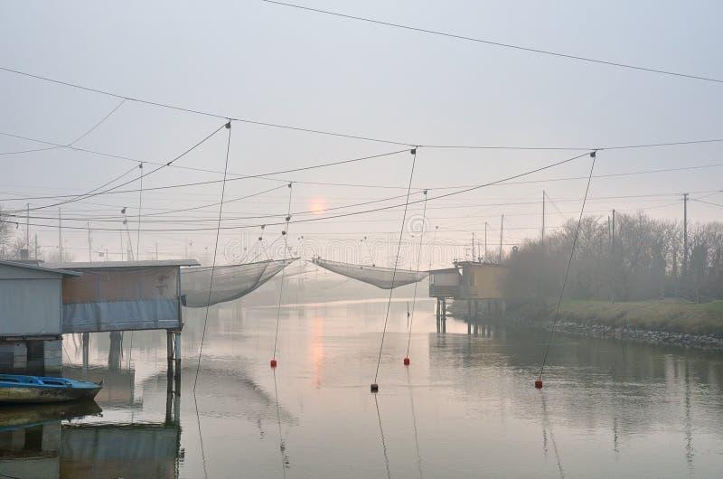 Casa de la pesca fotografía de archivo libre de regalías