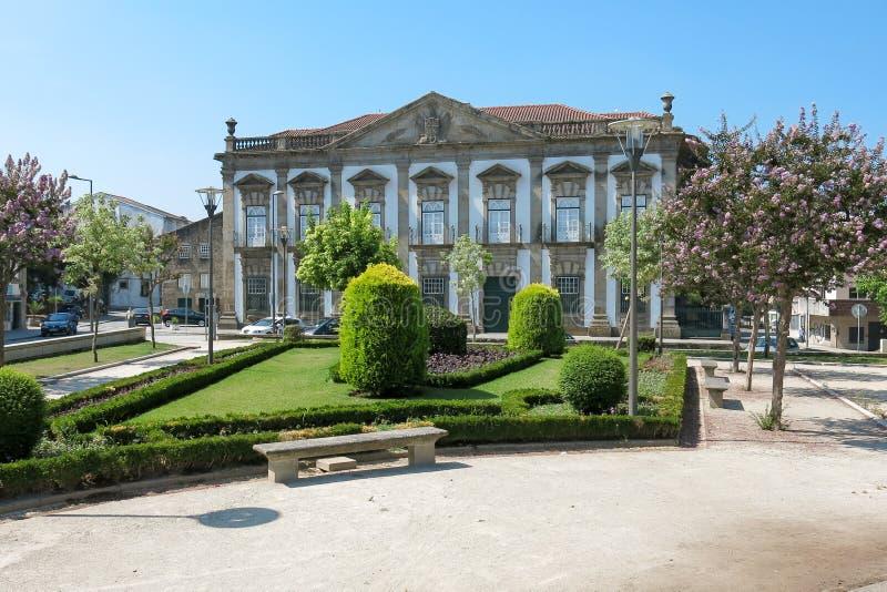 Casa de la residencia grande en Braga, Portugal imagen de archivo