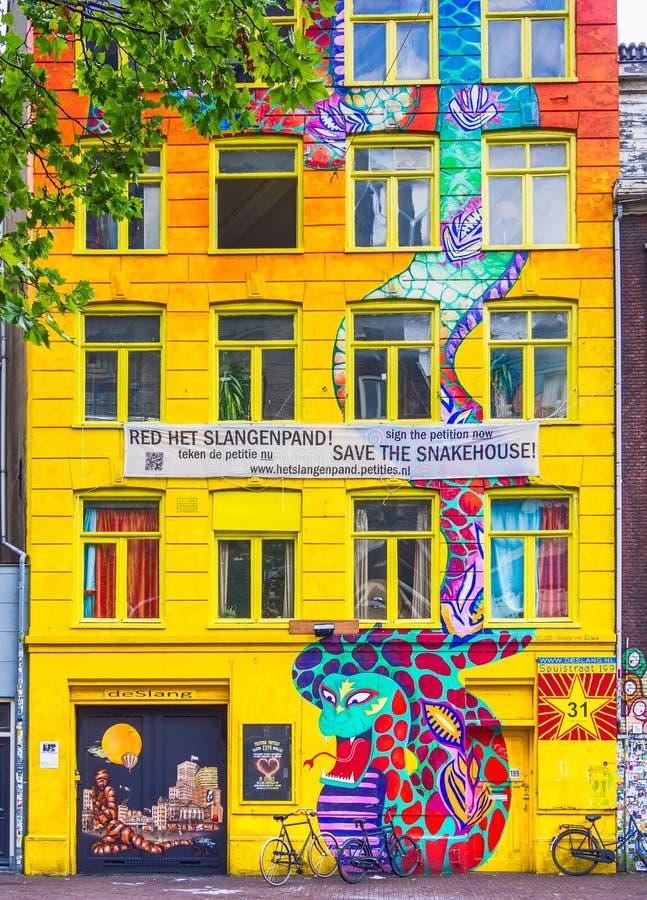 Casa de la serpiente, Amsterdam, los Países Bajos fotos de archivo libres de regalías