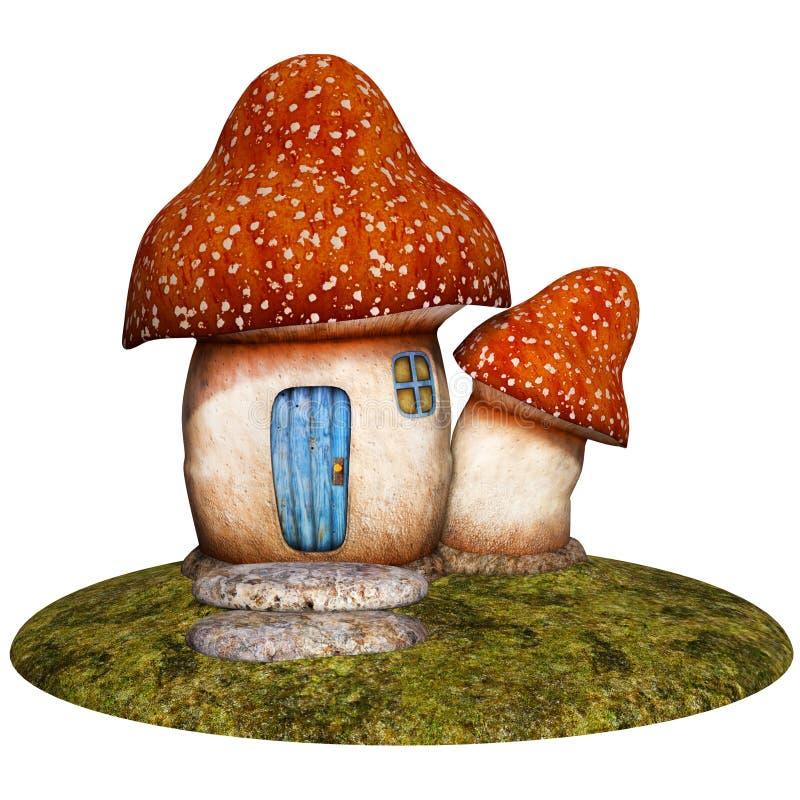Casa de la seta de la fantasía ilustración del vector