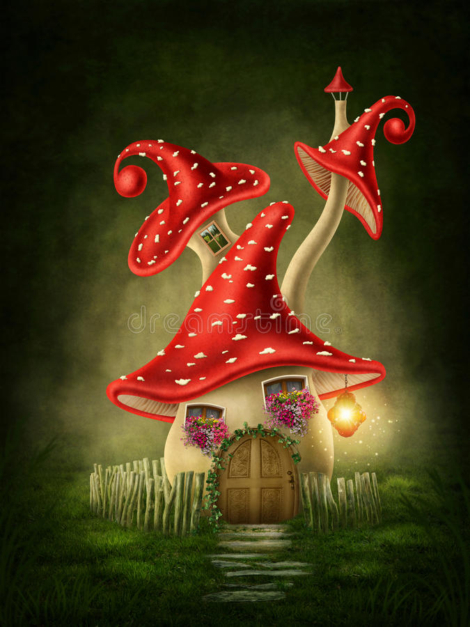Casa de la seta de la fantasía libre illustration