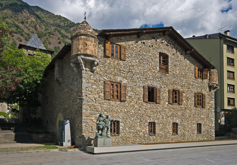 Casa de la Vall foto de stock