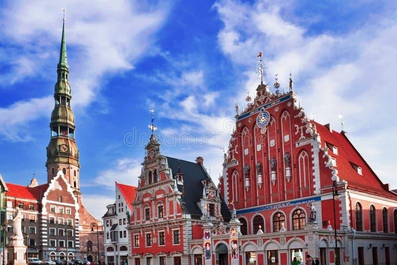 Casa de las espinillas en Riga imágenes de archivo libres de regalías