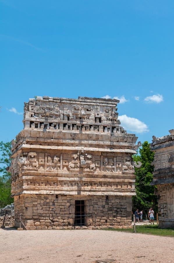 Casa de Las Monjas, ruines maya antiques chez Chichen Itza, photos stock
