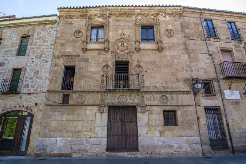 Casa de las Muertes en Salamanca, España imagen de archivo libre de regalías