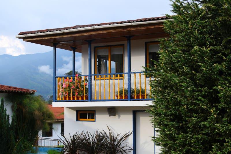 Casa de las vacaciones en Colombia imagen de archivo libre de regalías