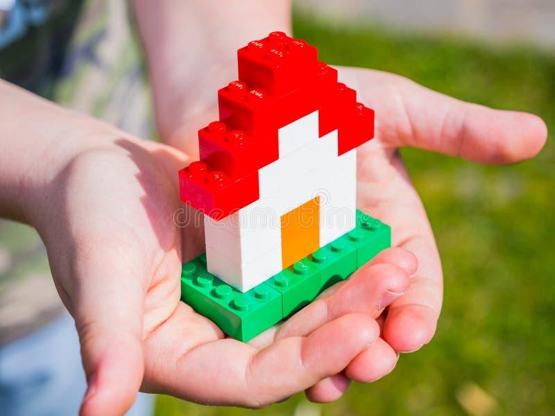 Casa de Lego foto de archivo libre de regalías