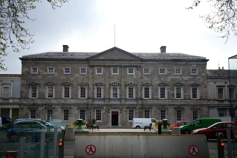 Casa de Leinster, a construção do parlamento irlandês, Dublin, Ir fotos de stock