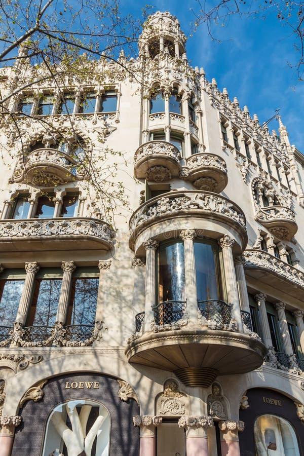 Casa de Lleo Morera em Barcelona fotos de stock