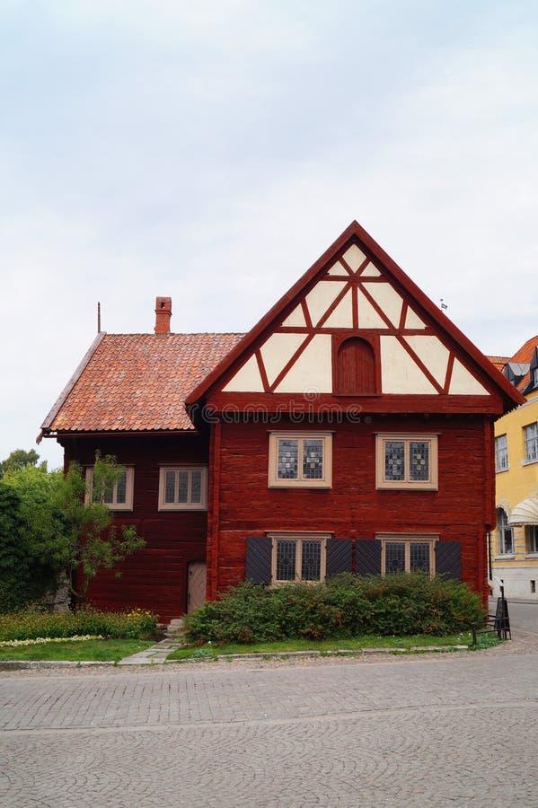 Casa de log imagem de stock