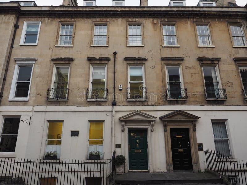 Casa de Lord Nelson no banho imagens de stock
