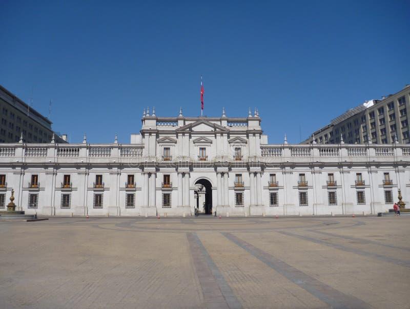 Casa De Los angeles Moneda pałac w Santiago De Chile zdjęcie stock