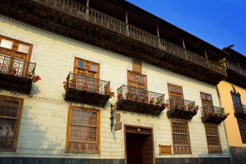 Casa DE los Balcones huis La Orotava Tenerife royalty-vrije stock afbeeldingen