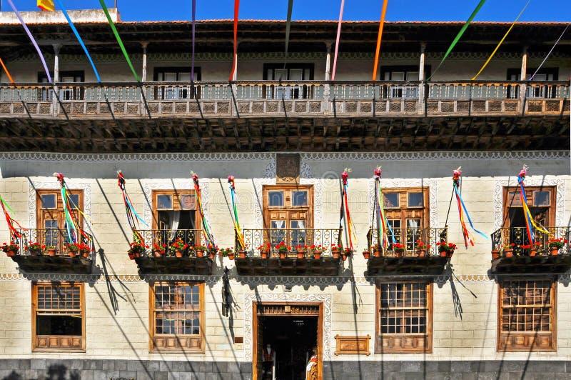 Casa DE los Balcones in La Orotava, Canarische Eilanden royalty-vrije stock foto's