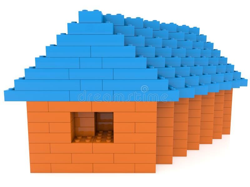 Casa de los ladrillos del juguete en blanco libre illustration