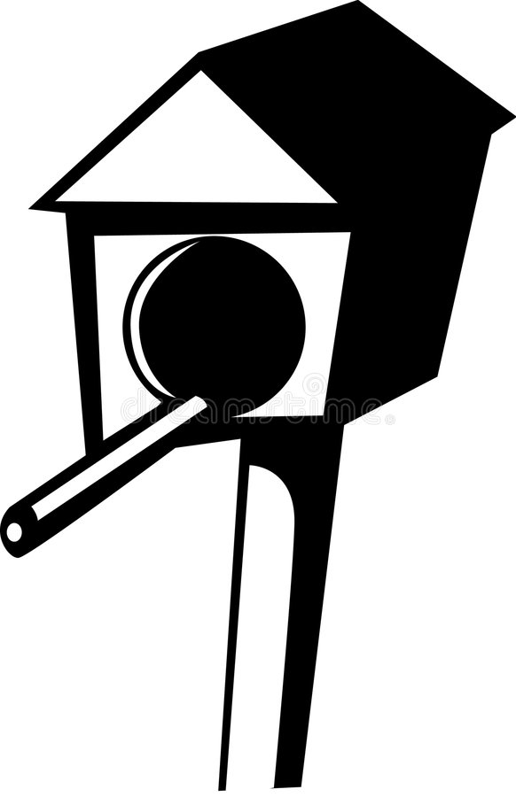 Casa de los pájaros stock de ilustración