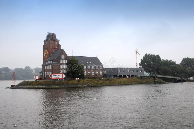 Casa De Lotsen En Hamburgo Imagen editorial