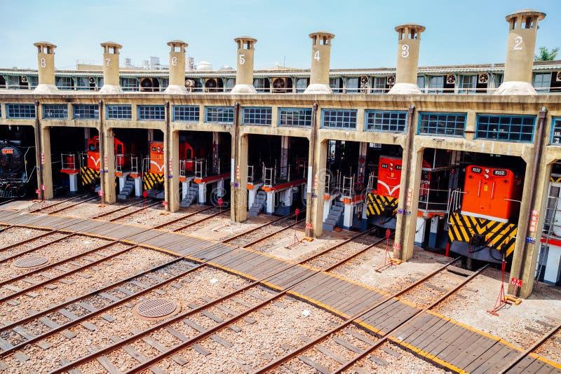 Casa de máquinas de Changhua del garaje del tren en Taiwán fotos de archivo libres de regalías