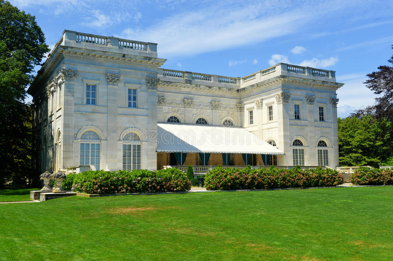 A casa de mármore - Newport, Rhode Island fotografia de stock royalty free