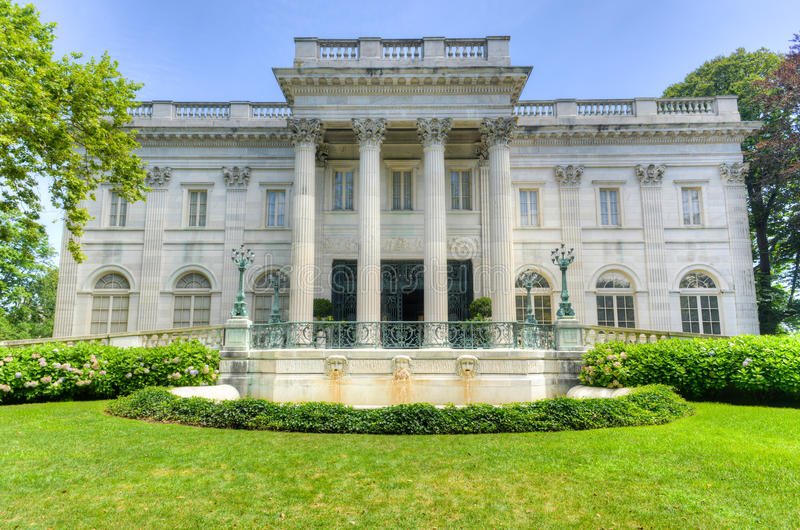A casa de mármore - Newport, Rhode Island imagem de stock royalty free