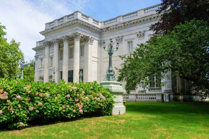 A casa de mármore - Newport, Rhode Island imagem de stock