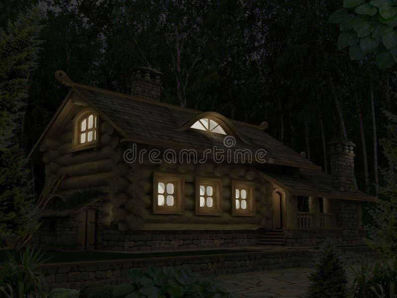 Casa de madeira 1 ilustração do vetor