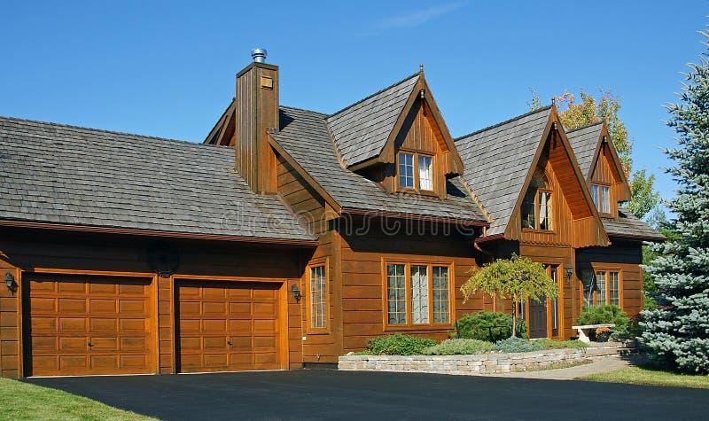 Casa de madeira canadense fotografia de stock royalty free