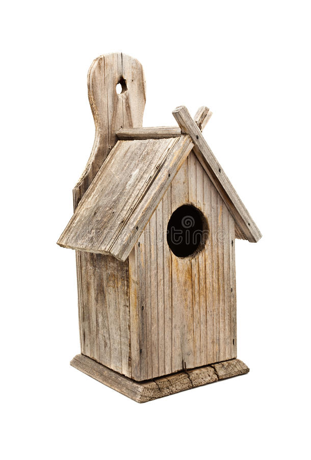Casa de madeira do pássaro fotografia de stock royalty free