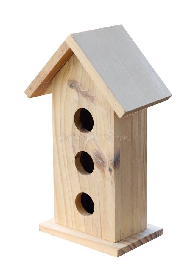 Casa de madeira do pássaro imagens de stock