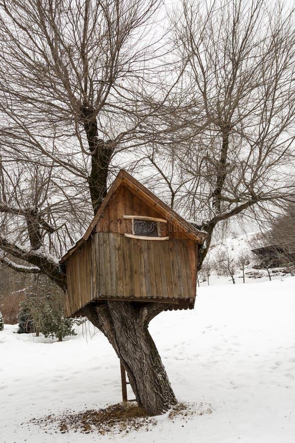 casa de madeira em Dolomites, Itália foto de stock royalty free