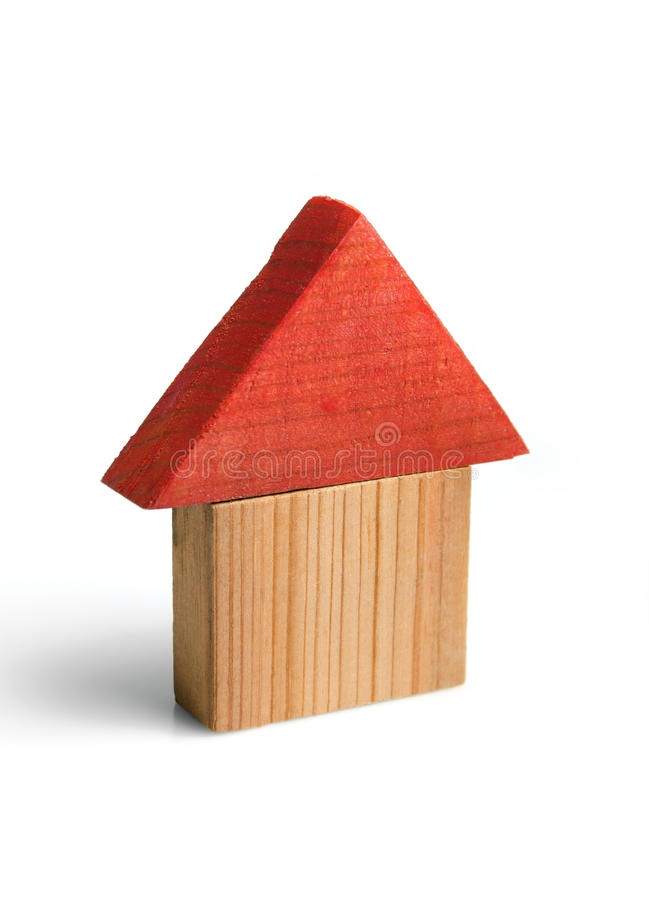 Casa de madeira pequena fotografia de stock royalty free