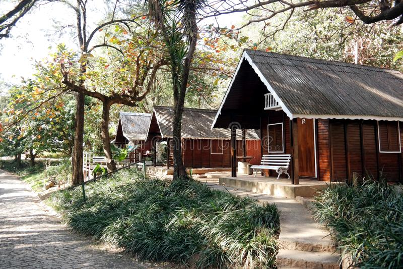 Casa de madeira pequena - Brasil fotografia de stock royalty free