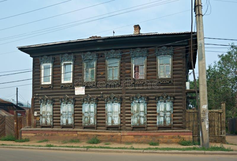 Casa de madeira velha imagens de stock